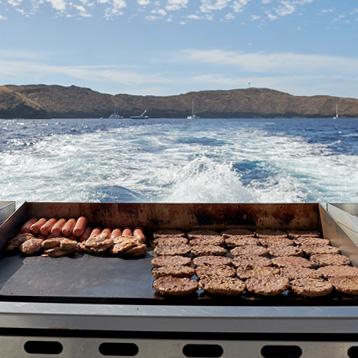 Hot BBQ grill