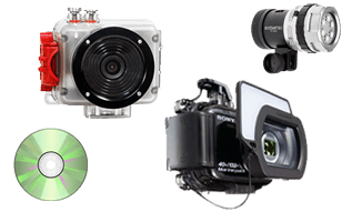 On-board underwater camera rentals