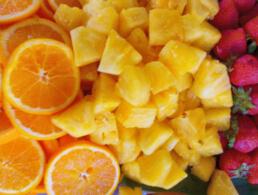 Best Oranges strawberries pineapple