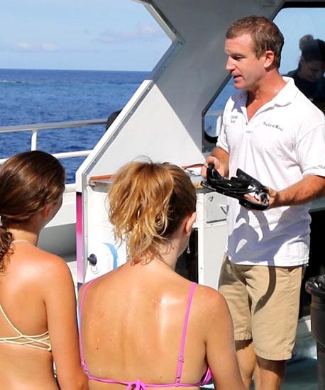 Safe diving instructions