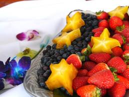 Maui Hawaii Best Sunset Dinner Fruit Plate