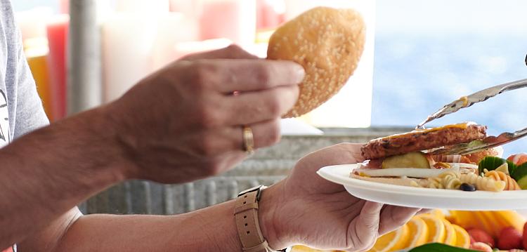 Sunset Dinner Cruise Veggie Burgers