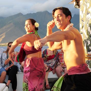 Authentic Polynesian Dance Maui Sunset Luau Cruise